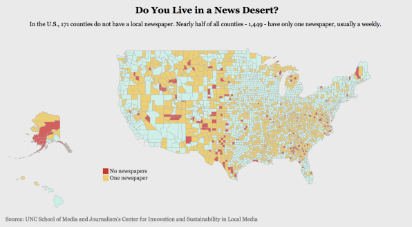Do you live in a local news desert? This map will tell you