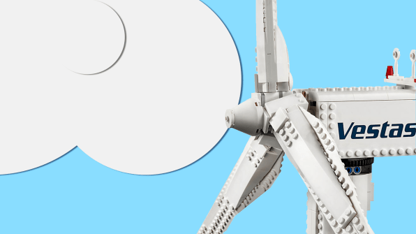 Lego re-releases its rare Vestas wind turbine set for $200