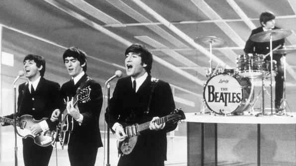 paul on the run how the beatles got their famous logo. Black Bedroom Furniture Sets. Home Design Ideas
