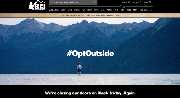 How Rei Is Keeping Optoutside Magic Alive On Black Friday