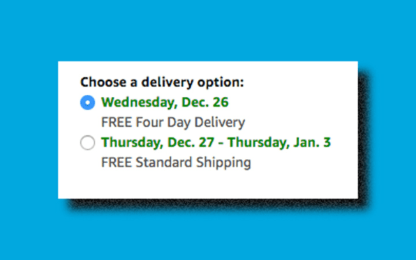 bbc1a6c7f4 Amazon Prime 2-day shipping doesn't ship for Christmas