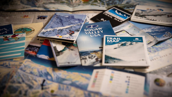 Why does every ski mountain trail map look the same?