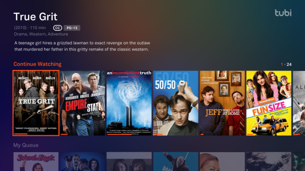 Tubi's free streaming service is a boon for cord cutters