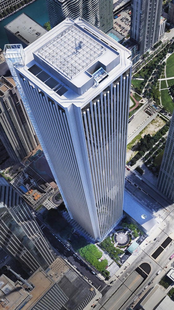 Chicago's Aon Center gets tallest glass elevator in the U S