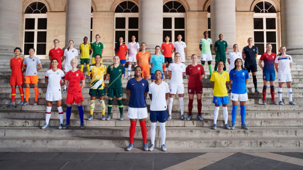 6b169d665d2 First look  Nike unveils women s soccer kits for 14 countries