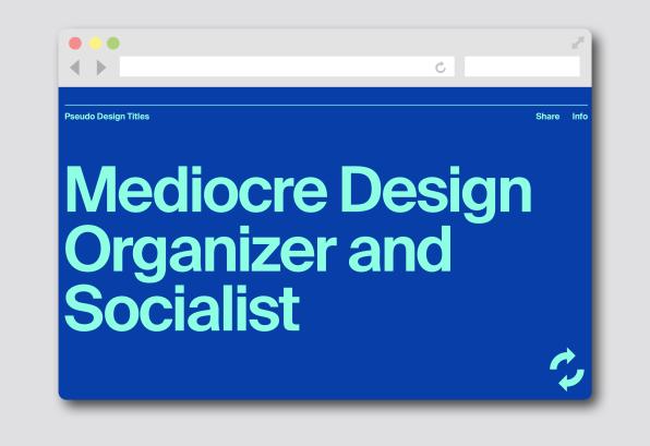 Let this AI name your next design job