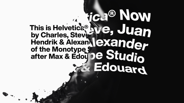 Helvetica Now is a revamped Helvetica