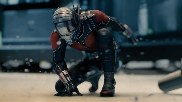 Paul Rudd as Ant-Man.