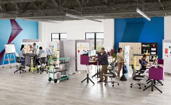 Steelcase Launches Super Flexible Office Furniture Line Flex
