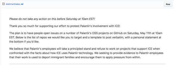 Exclusive: Tech workers organize protest against Palantir on GitHub