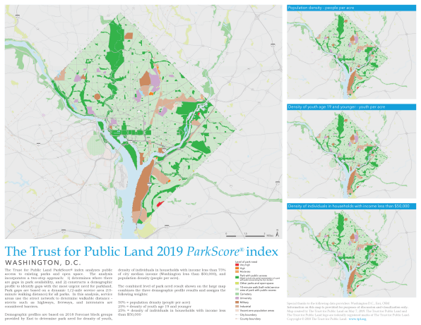 Washington, D.C., tops the trust for Public Land ParkScore ...