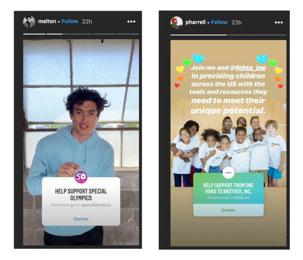 Instagram now lets you give to charity with one click
