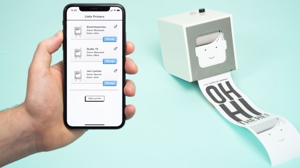 The Little Printer, a cult classic of 2010s design, is back
