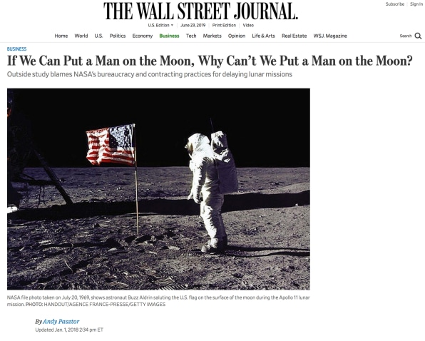 The wild, improbable history of the phrase 'If we can put a man on the Moon . . .'