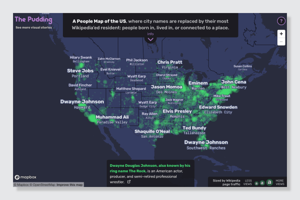 The People Map Of The Us Shows Cities Renamed After Celebrities - Us-map-with-city-names