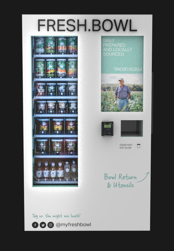 Fresh Bowl's vending machines will give New Yorkers easy salads