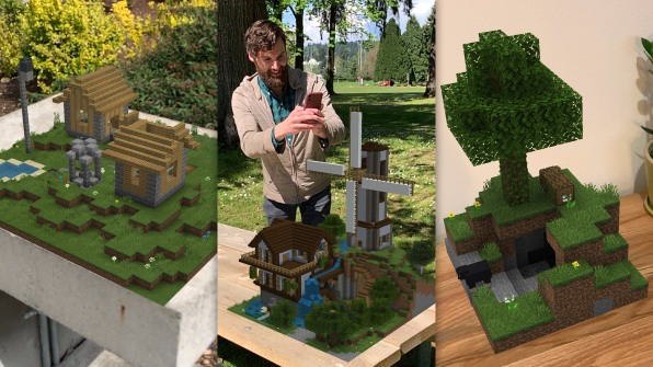 A first look at Minecraft Earth, Microsoft's wild new attempt to bring gaming to the real world