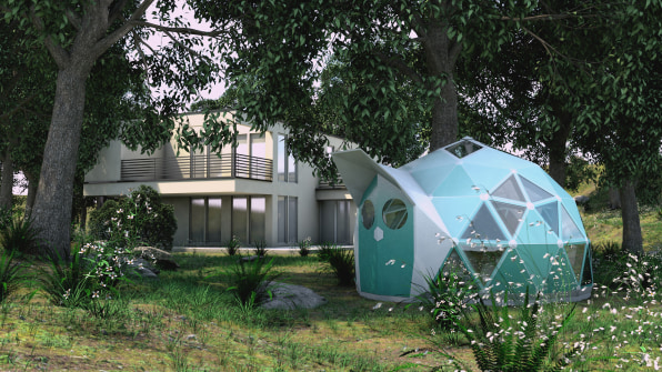 These bioceramic geodesic domes are fireproof and hurricane ... on hurricane proof house designs, home interior design, safe room design,