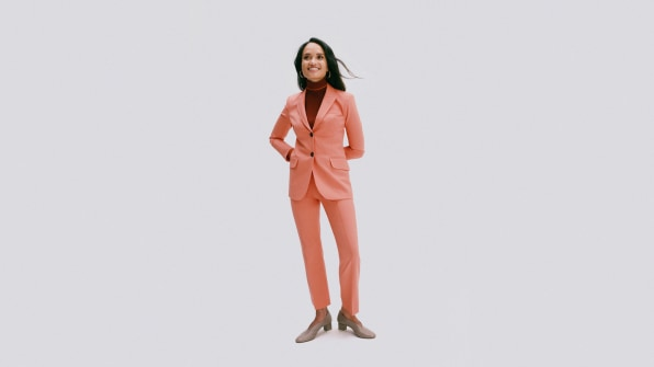 Argent is the women's suit brand worn by political hopefuls