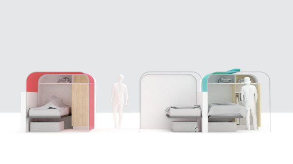 These modular units bring privacy to homeless shelters