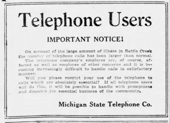 电话在1918年西班牙流感大流行期间为何未能通过大考验