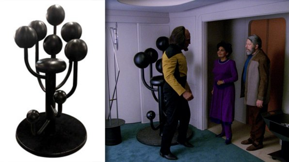 A frankly ridiculous-looking chair from Star Trek: The Next Generation