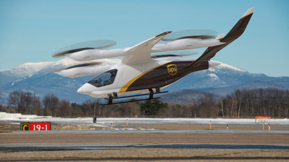 02 ups plans to begin using flying electric delivery vans