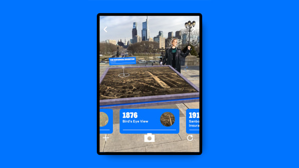 16 this app explores the visible and invisible history copy