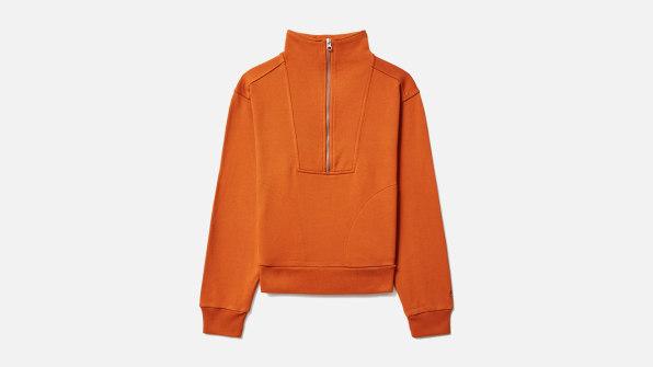 i 8 sustainable clothing brands 90626395 everlane organic cotton sweatshirt half zip