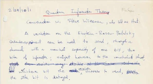 i Quantum Information Theory note Credit Charlie Bennett