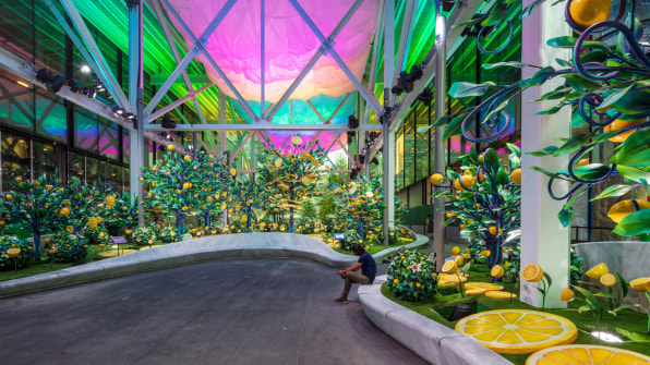 02 90654550 this surreal lemon themed installation could make