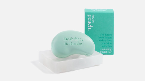 i 1 plastic free morning routine 90650188 peach facial cleansing bar