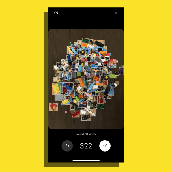 i 2 90652594 got a pile of random lego this amazing app tells you what you can build