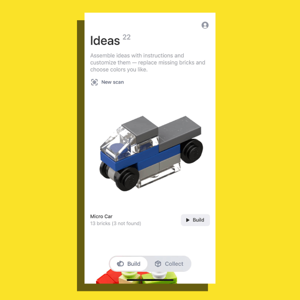 i 3 90652594 got a pile of random lego this amazing app tells you what you can build