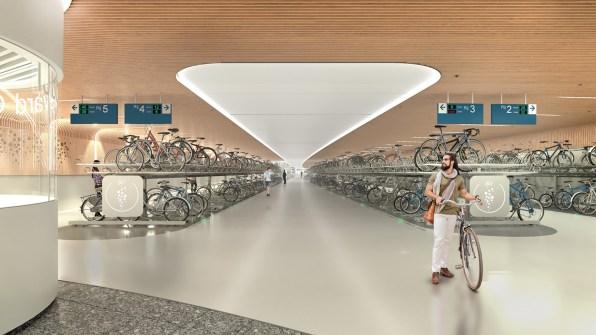 04 90675130 in amsterdam this underground bike parking