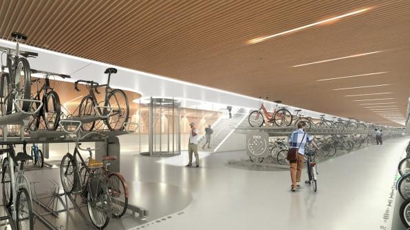 05 90675130 in amsterdam this underground bike parking