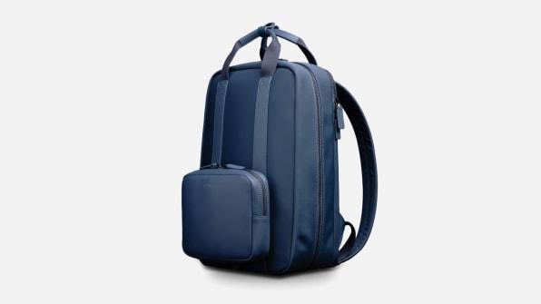 monos backpack nylon navy blue