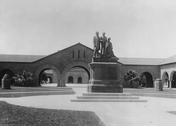 i Statue of a family group at Stanford University ca.1900 CHS 2600