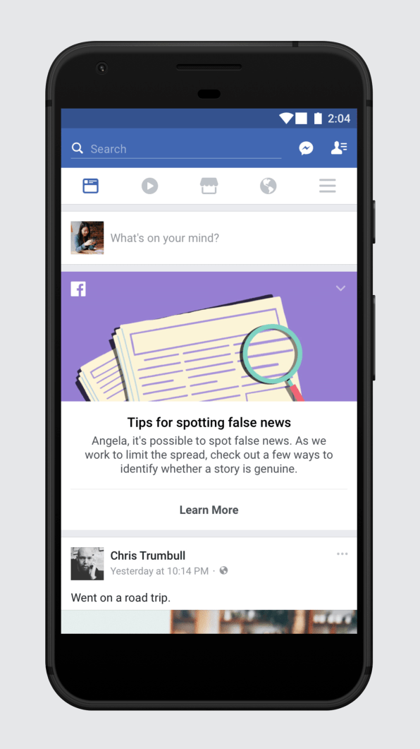 Facebook Has Some Tips To Help You Spot The Fake News It Serves You