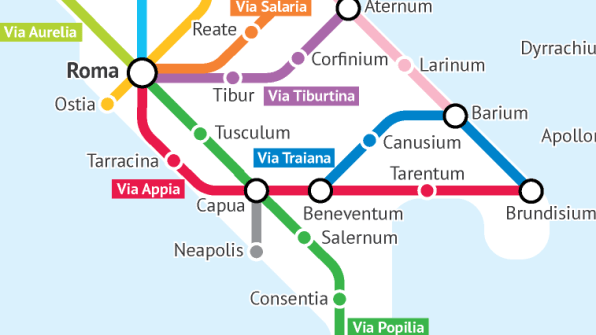 Ancient Rome Subway Map.What The Roman Empire Would Have Looked Like As A Subway Map
