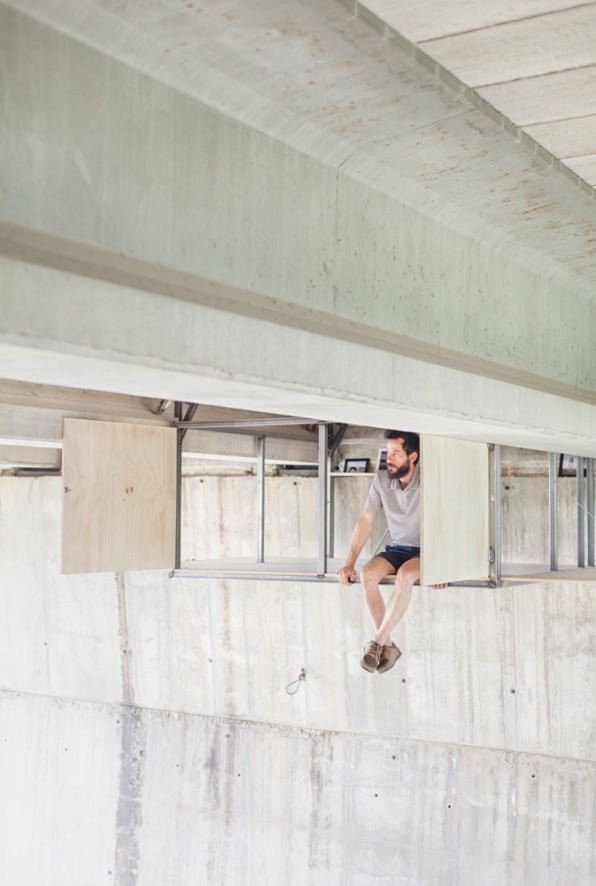 This Designer Built A Secret Studio That Hangs Beneath An Underpass
