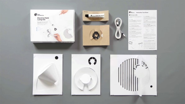 Be your own lighting designer with this conductive ink craft kit