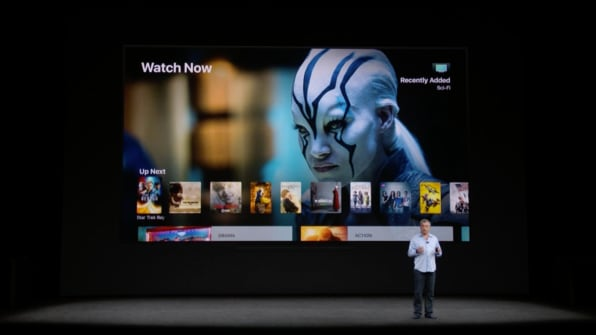 c4b2748c ... you can now see the real time scores of sports matches, says Apple's  Eddie Cue. Apple says the new A10X chip will also make gaming on the Apple  TV run ...