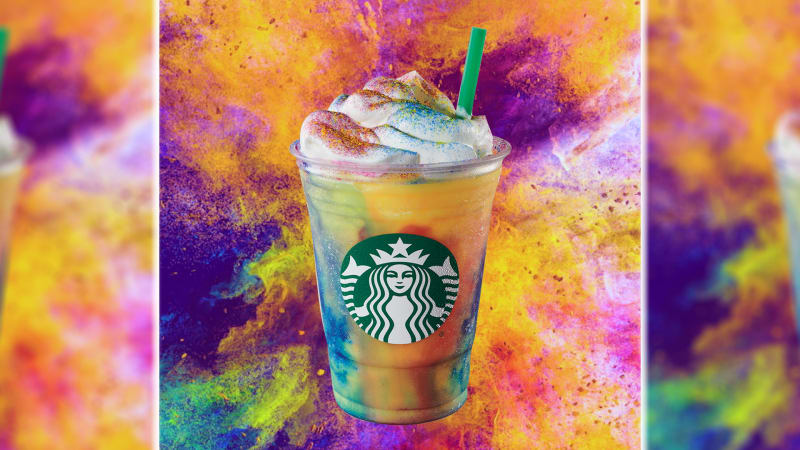 Starbucks wants you to suck down 3 days' worth of sugar in one Tie-Dye Frappuccino