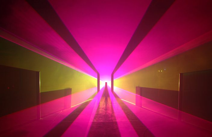 An Artist Sculpts Rooms Using Vectors Of Light
