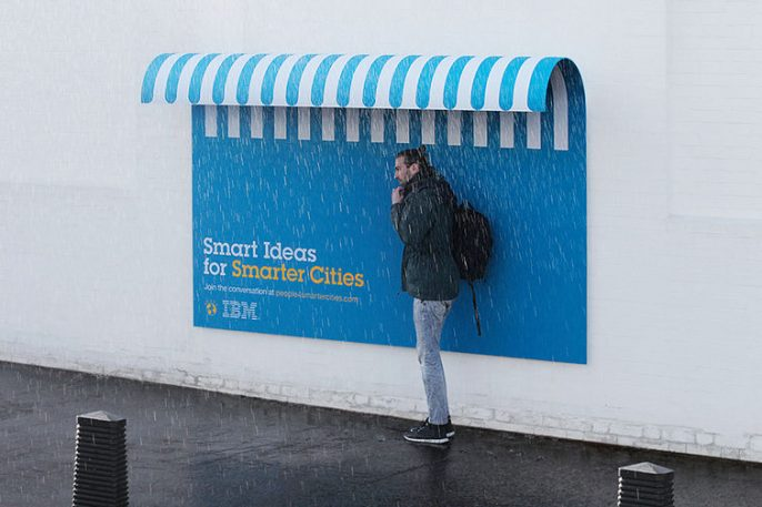 IBM's Clever Billboards Double As Benches, Shelter, And Ramps