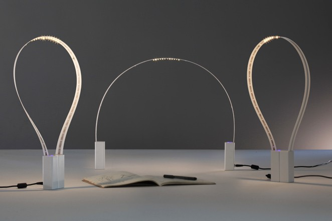 A Flexible Desk Lamp Made From A Ribbon Of LEDs