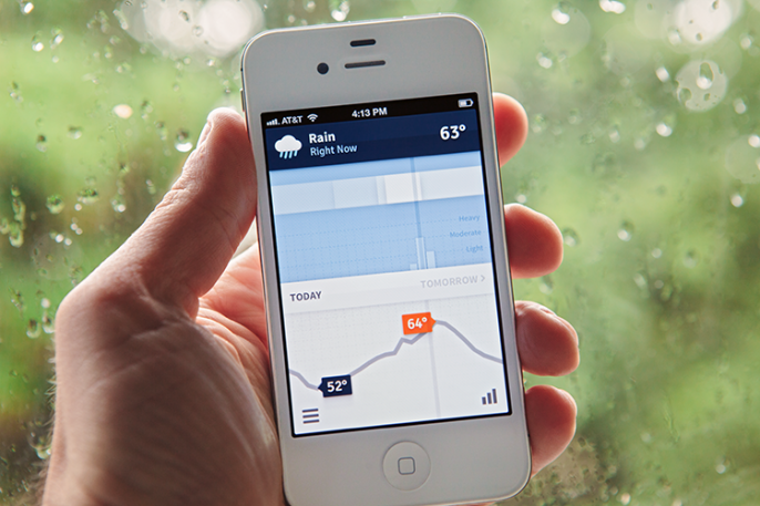 This iPhone App Reports The Weather As A Daily Infographic