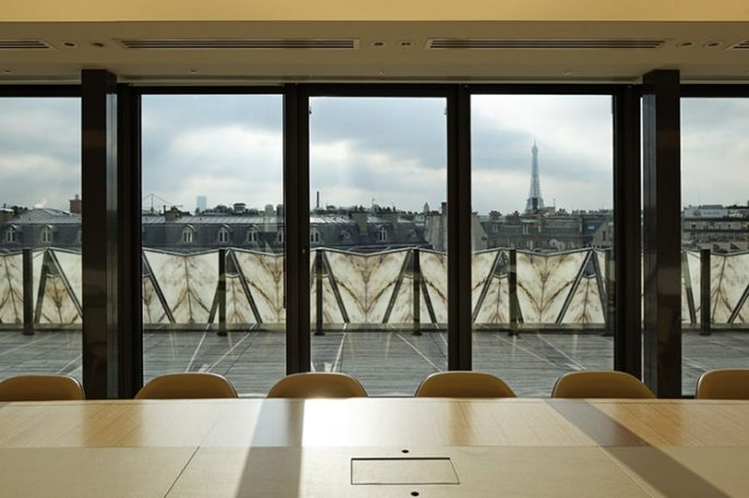 This Paris Building Has A Fluttering Origami Facade