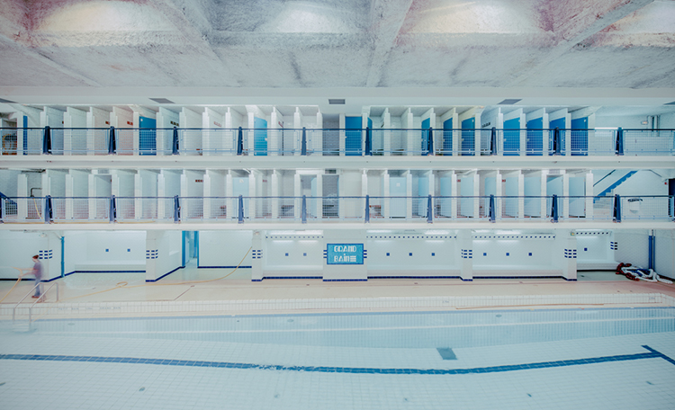 Photog Captures The Ghostly Architecture Of Paris's Swimming Pools